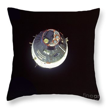 The Gemini 7 Spacecraft Throw Pillow by Stocktrek Images