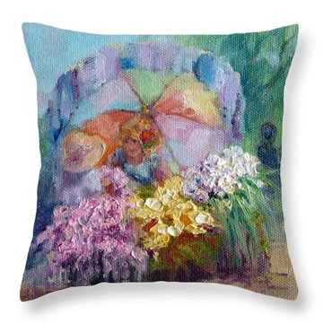 The Gift Throw Pillow by Marie Green