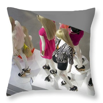 The Girls Throw Pillow by Lisa Plymell