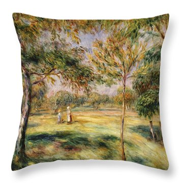 The Glade Throw Pillow by Pierre Auguste Renoir