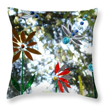 The Glass Garden Throw Pillow by Pat Purdy
