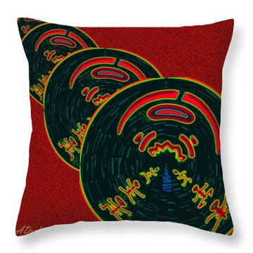 The God Of Fire Family Tree Throw Pillow by Alec Drake