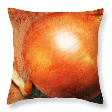 The Golden Onion Throw Pillow by Andee Design