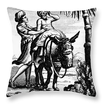 The Good Samaritan Throw Pillow by Granger