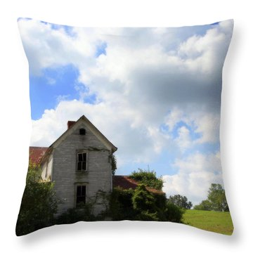 The House On The Hill Throw Pillow by Karen Wiles
