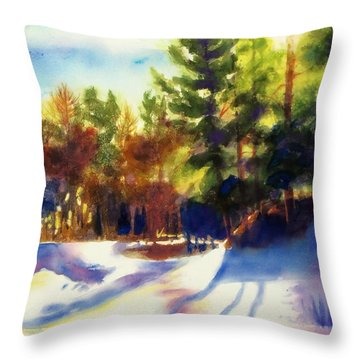 The Last Traces II Throw Pillow by Kathy Braud