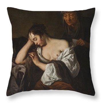The Letter Throw Pillow by Sir Peter Lely