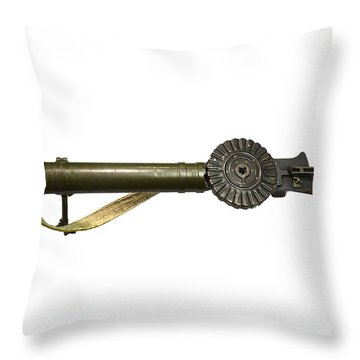 The Lewis Automatic Machine Gun Throw Pillow by Andrew Chittock