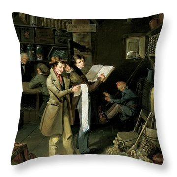 The Long Bill Throw Pillow by James Henry Beard