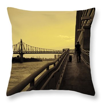The Long Walk Throw Pillow by Madeline Ellis