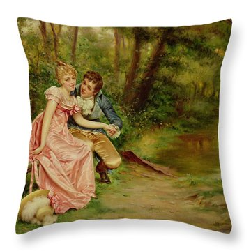 The Lovers Throw Pillow by Joseph Frederick Charles Soulacroix