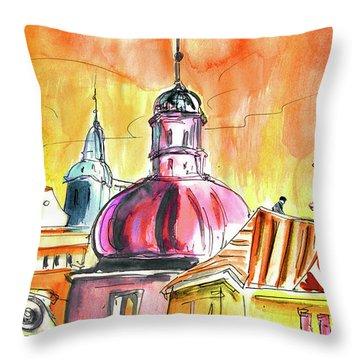 The Magical Roofs Of Prague 01 Bis Throw Pillow by Miki De Goodaboom