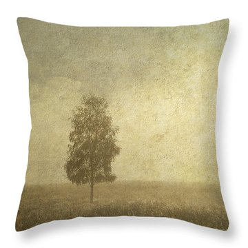 The One Throw Pillow by Jenny Rainbow