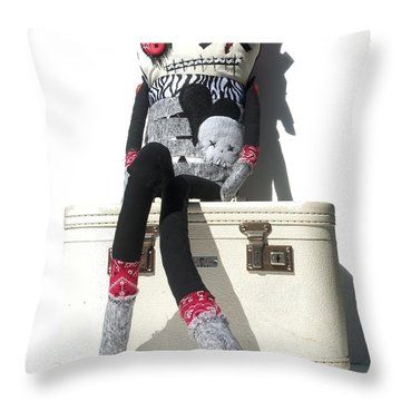 The Original Gangsta Zombie Blunt Force Angelo Throw Pillow by Oddball Art Co by Lizzy Love