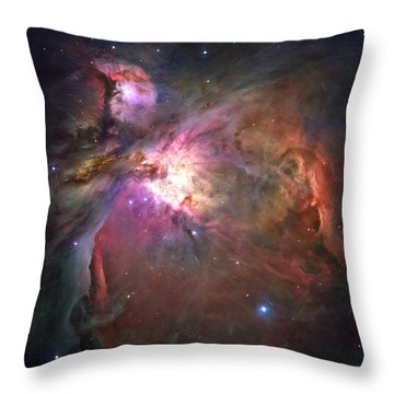 The Orion Nebula Was Born In Enormous Throw Pillow by Nasa