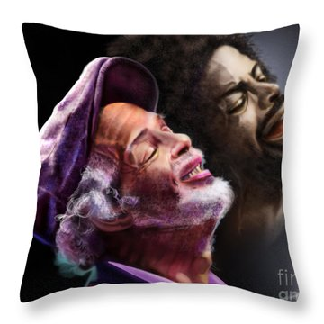 The Other Side-gil Scott Finally Going Home Throw Pillow by Reggie Duffie
