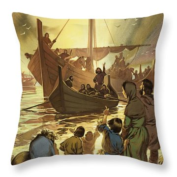 The Parting Throw Pillow by Angus McBride