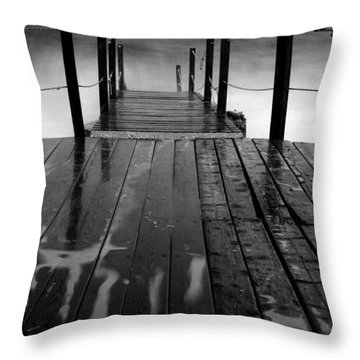 The Pier...protaras Throw Pillow by Stelios Kleanthous