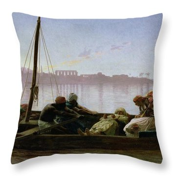 The Prisoner Throw Pillow by Jean Leon Gerome