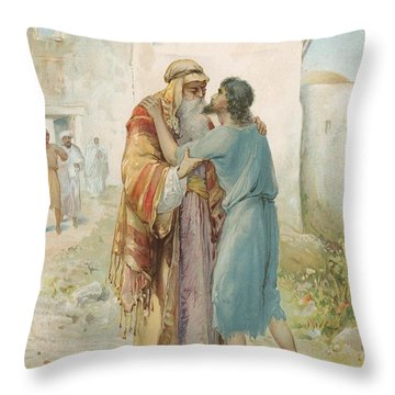 The Prodigal's Return Throw Pillow by Ambrose Dudley