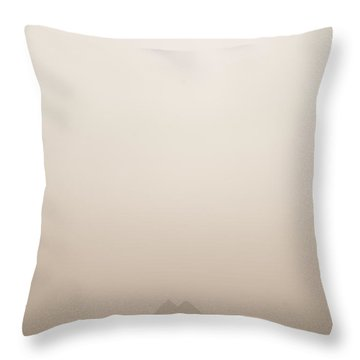 The Pyramids Rise Over The Smog Throw Pillow by Taylor S. Kennedy