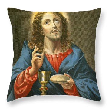 The Redeemer Throw Pillow by Carlo Dolci