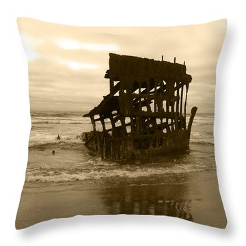 The Remains Of A Ship Throw Pillow by Kym Backland