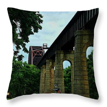 The Ride Throw Pillow by Tommy Anderson