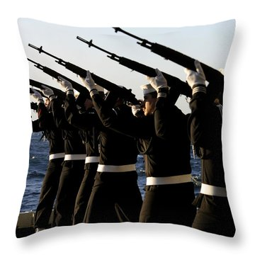 The Rifle Detail Aboard Throw Pillow by Stocktrek Images