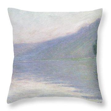 The Seine At Port Villez Throw Pillow by Claude Monet