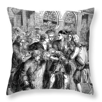 The South Sea Bubble, 1720 Throw Pillow by Granger