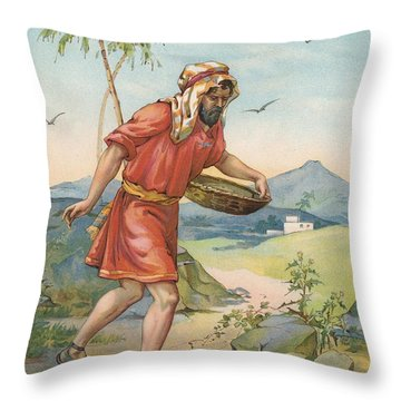 The Sower Throw Pillow by Ambrose Dudley