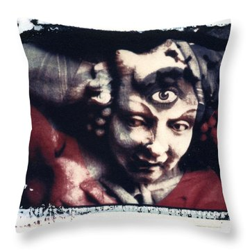 The Third Eye Polaroid Transfer Throw Pillow by Jane Linders