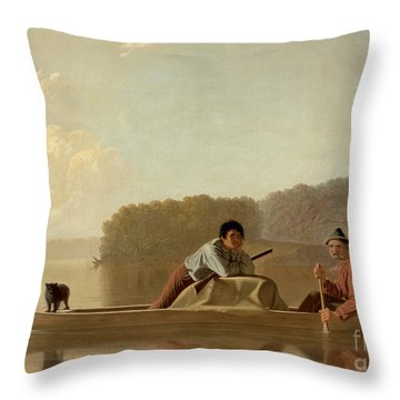 The Trapper's Return Throw Pillow by George Caleb Bingham