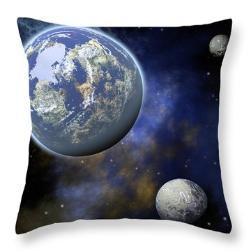 The Universe Throw Pillow by Jay Lethbridge