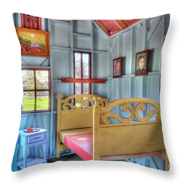 The Vincent Van Gogh Small House Throw Pillow by Tamyra Ayles