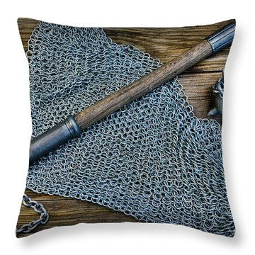 The Warriors Mace Throw Pillow by Paul Ward