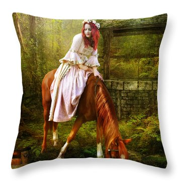 The Waterhole Throw Pillow by Mary Hood