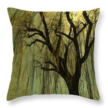 The Willow Tree Throw Pillow by Susanne Van Hulst