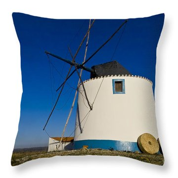 The Windmill Throw Pillow by Heiko Koehrer-Wagner