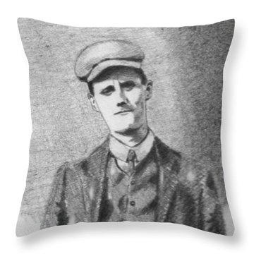 The Young James Joyce Throw Pillow by John  Nolan