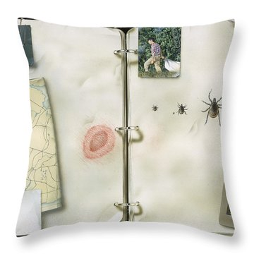 This Artwork Is Called Lyme Disease Throw Pillow by Christopher Klein