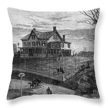 Thomas Edison Residence Throw Pillow by Granger