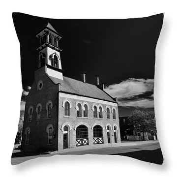 Thorold's Old Fire Hall Throw Pillow by Guy Whiteley