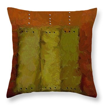 Three Throw Pillow by Ely Arsha