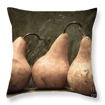 Three Pear Throw Pillow by Edward Fielding