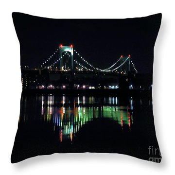 Throggs Neck Bridge Throw Pillow by Dale   Ford