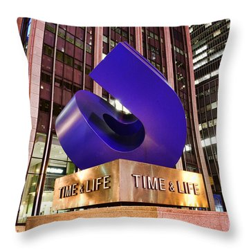 Time And Life Curved Cube Throw Pillow by Paul Ward
