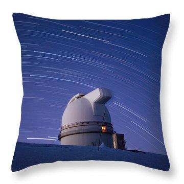 Time-exposure Of The Mauna Kea Throw Pillow by Robert Madden