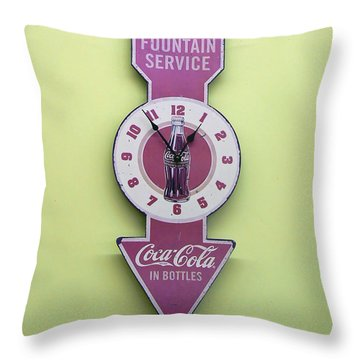 Time For Coke Throw Pillow by Pamela Patch